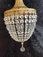 One Light French Antique Bag Chandelier (7 of 12)