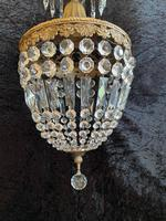 One Light French Antique Bag Chandelier (8 of 12)