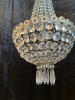 Silver Framed French Antique Empire Chandelier (12 of 12)