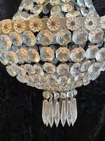 Silver Framed French Antique Empire Chandelier (8 of 12)
