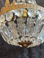 One Light French Antique Small Empire Chandelier (2 of 4)
