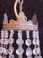One Light French Antique Small Empire Chandelier (3 of 4)