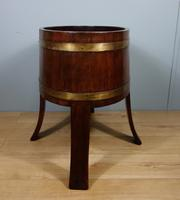 Mahogany & Brass Jardinière by Champion of London C.1900 (5 of 8)