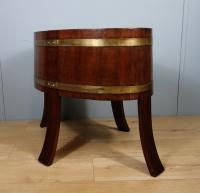 Mahogany & Brass Jardinière by Champion of London C.1900 (4 of 8)