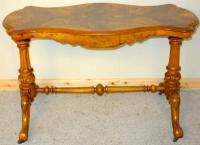 Victorian Burr Walnut Centre Table C.1890 (9 of 9)