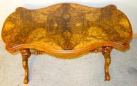 Victorian Burr Walnut Centre Table C.1890 (2 of 9)