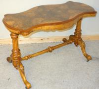 Victorian Burr Walnut Centre Table C.1890 (6 of 9)