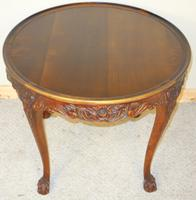Carved Mahogany Circular Centre Table C.1930 (2 of 7)