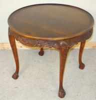 Carved Mahogany Circular Centre Table C.1930 (6 of 7)