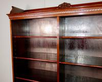 Victorian Double Section Open Mahogany Bookcase (3 of 11)