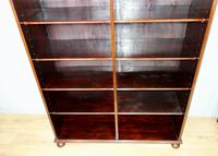 Victorian Double Section Open Mahogany Bookcase (2 of 11)