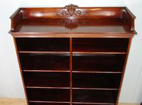 Victorian Double Section Open Mahogany Bookcase (4 of 11)