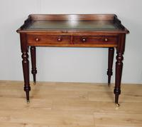 Leather Mahogany Two Drawer Writing Table