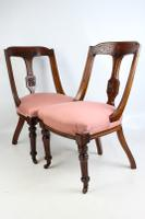 Pair of Antique Victorian Sling Back Chairs (2 of 13)