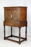 Edwardian Oak Cabinet in 17th Century Style c.1910 (3 of 13)
