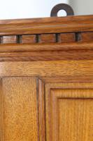 Edwardian Oak Overmantle Mirror (6 of 13)