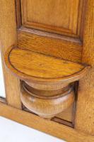 Edwardian Oak Overmantle Mirror (7 of 13)