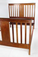 Edwardian Mahogany & Inlaid Double Bed (3 of 13)