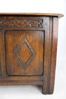 Small Carved Oak Coffer / Blanket Chest c.1920 (9 of 14)