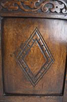 Small Carved Oak Coffer / Blanket Chest c.1920 (10 of 14)