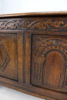 Small Carved Oak Coffer / Blanket Chest c.1920 (13 of 14)