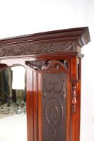 Large Victorian Carved Mahogany Overmantle Mirror (3 of 13)