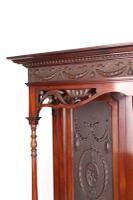 Large Victorian Carved Mahogany Overmantle Mirror (8 of 13)