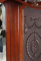 Large Victorian Carved Mahogany Overmantle Mirror (9 of 13)