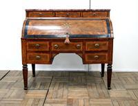 Very Unusual Antique Inlaid Cylinder Desk c.1820