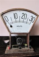 Large 1930s Demonstration Voltmeter