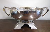 George V Generous Silver Punch Bowl