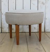 Art Deco French Linen Stool (2 of 6)