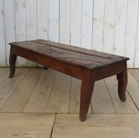 Antique Monastery Hall Bench Coffee Table