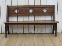 Antique Oak Hall Bench c.1890 (3 of 7)
