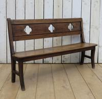 Antique Oak Hall Bench c.1890 (7 of 7)