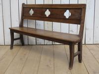 Antique Oak Hall Bench c.1890 (5 of 7)