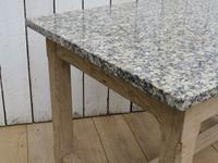 Bleached Oak & Marble Boulangerie Prep Table (3 of 9)