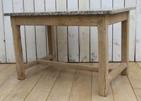 Bleached Oak & Marble Boulangerie Prep Table (5 of 9)