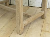 Bleached Oak & Marble Boulangerie Prep Table (7 of 9)