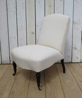 Antique Napoleon III Slipper Chair for re-upholstery (4 of 9)