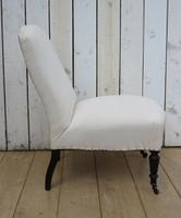 Antique Napoleon III Slipper Chair for re-upholstery (6 of 9)