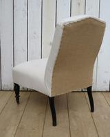 Antique Napoleon III Slipper Chair for re-upholstery (9 of 9)