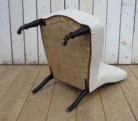 Antique Napoleon III Slipper Chair for re-upholstery (7 of 9)