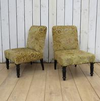 Pair of Antique Napoleon III Chairs for re-upholstery (9 of 9)