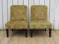 Pair of Antique Napoleon III Chairs for re-upholstery (2 of 9)