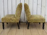 Pair of Antique Napoleon III Chairs for re-upholstery (6 of 9)