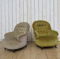 Antique His & Hers Victorian Tub Armchairs (8 of 8)