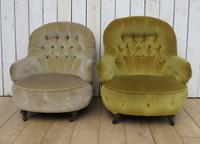 Antique His & Hers Victorian Tub Armchairs (2 of 8)