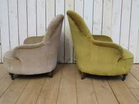 Antique His & Hers Victorian Tub Armchairs (5 of 8)