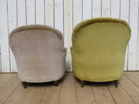 Antique His & Hers Victorian Tub Armchairs (7 of 8)